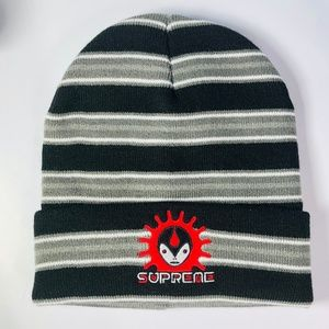 Supreme Stripe 6 Panel Hat Black FW18